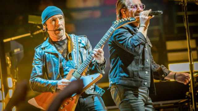 U2 Perform At Scottrade Center In Saint Louis