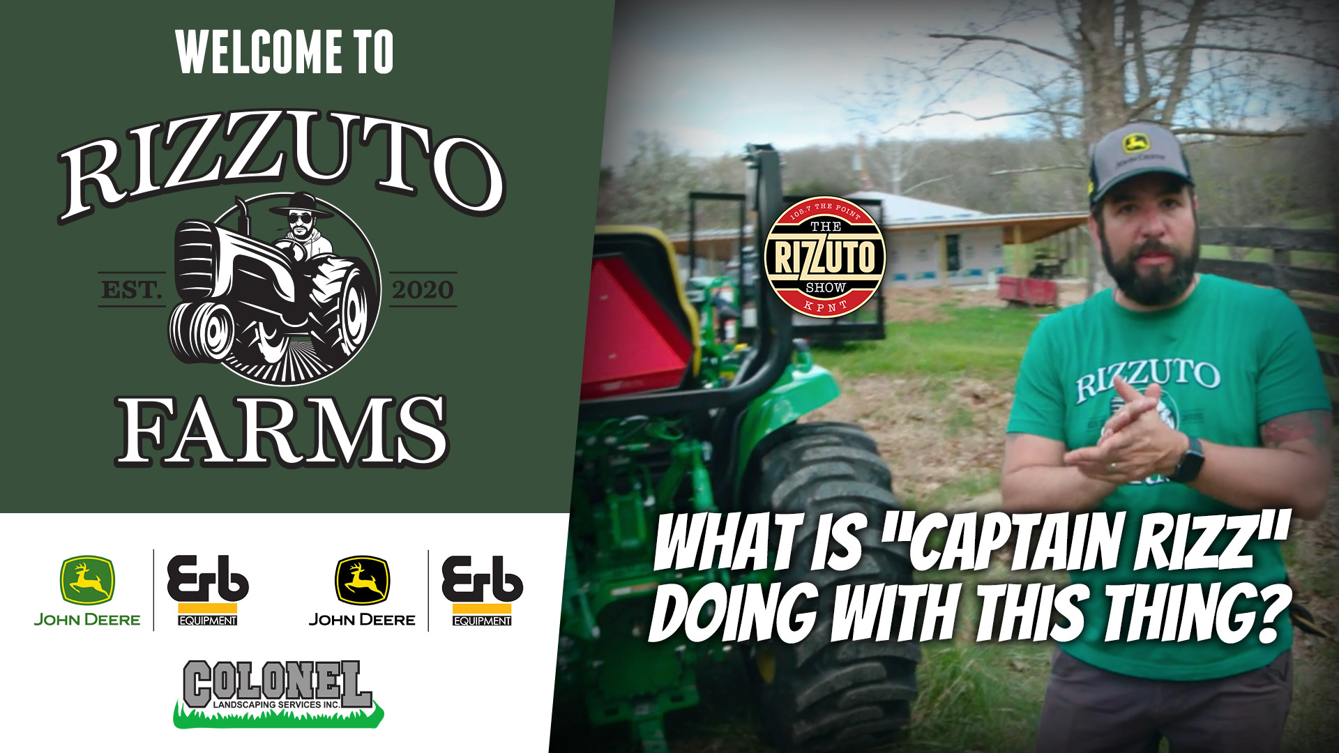 """""""Captain Rizz"""" learns how to drive a TRACTOR at RIZZ FARMS..."""